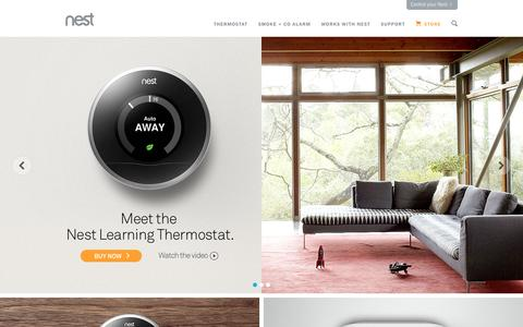 Screenshot of Home Page nest.com - Home | Nest - captured Sept. 16, 2014