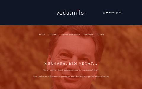 Screenshot of Home Page vedatmilor.com - vedatmilor - captured Oct. 7, 2018