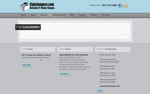 Screenshot of Signup Page cubejumpers.com - Free Consultation   Chicago, Illinois   CubeJumpers - captured Oct. 3, 2014