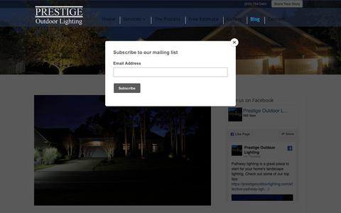 Screenshot of Blog prestigeoutdoorlighting.com - What's New | Prestige Outdoor Lighting - captured Nov. 5, 2018