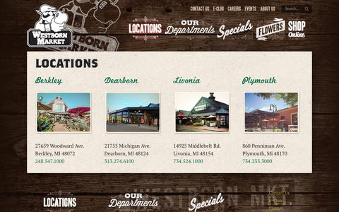 Screenshot of Locations Page westbornmarket.com - Locations - Westborn Market - captured Oct. 20, 2018
