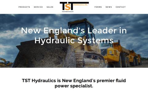 Screenshot of Home Page tsthydraulics.com - TST Hydraulics - captured Aug. 12, 2015