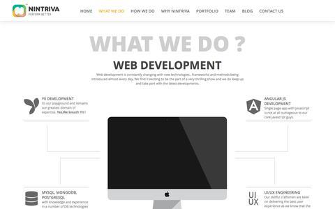 Screenshot of Home Page nintriva.com - Nintriva-Enterprise Web, Mobile & Analytics - captured Sept. 20, 2018