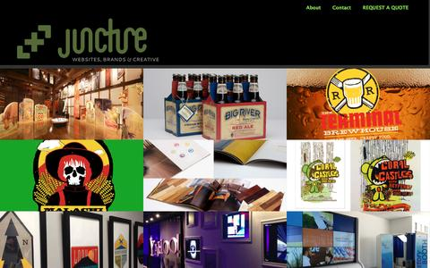 Screenshot of Home Page thejuncture.com - Juncture LLC - captured Feb. 11, 2016