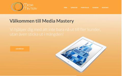 Screenshot of Home Page mediamastery.se - Media Mastery Sweden AB - captured Oct. 4, 2014