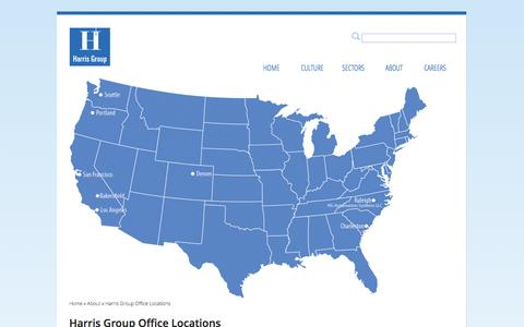 Screenshot of Locations Page harrisgroup.com - Harris Group Office Locations | Harris Group Inc. - captured Sept. 29, 2014