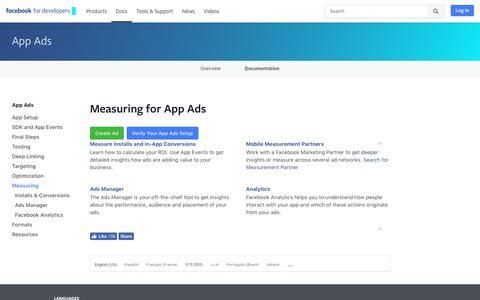 Measuring - App Ads