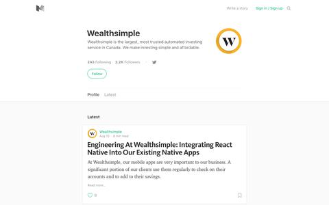 Wealthsimple – Medium