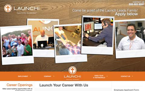 Screenshot of Jobs Page launchleads.com - Careers | Launch Leads: B2b Leads, Sales Leads, Lead Qualification, Qualified Leads | Launch Leads - captured Oct. 2, 2014