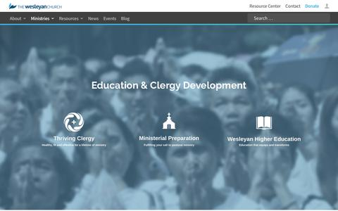 Education & Clergy Development | The Wesleyan Church