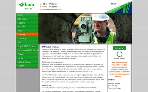 Screenshot of Jobs Page bamnuttall.co.uk - BAM Nuttall - captured Oct. 3, 2014