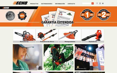 Screenshot of Home Page echo-argentina.com.ar - ECHO Argentina - captured Sept. 30, 2018
