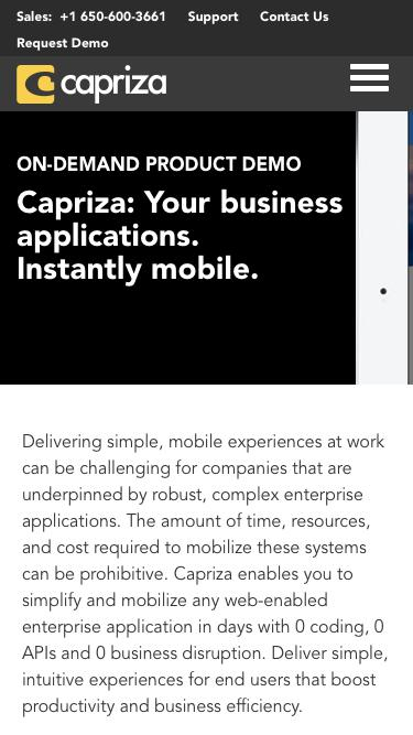 Capriza: Your business applications. Instantly mobile. | Capriza
