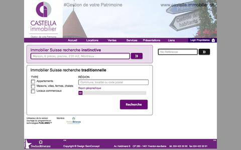 Screenshot of Locations Page castella-immobilier.ch - Nos locations - captured Sept. 26, 2014