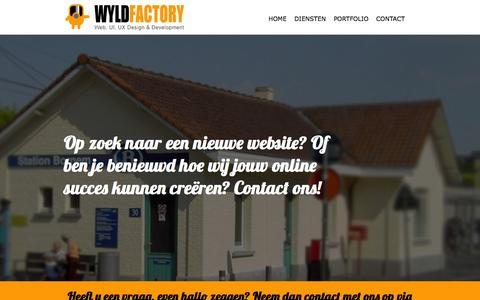 Screenshot of Contact Page wyldfactory.be - wyldfactory   contact - captured Sept. 30, 2014