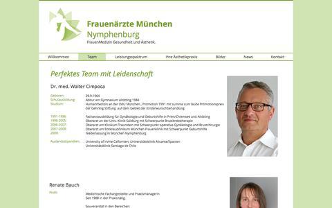 Screenshot of Team Page frauenaerzte-nymphenburg.com - Frauenärzte Nymphenburg Team - captured Jan. 21, 2017
