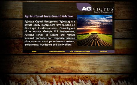 Screenshot of Home Page agvictus.com - AgVictus Capital Management - captured Feb. 5, 2016