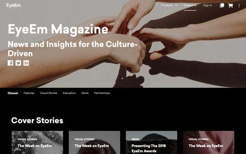 Screenshot of Blog eyeem.com - EyeEm Magazine - Photography Tutorials, Tips and Interviews - captured Oct. 28, 2018