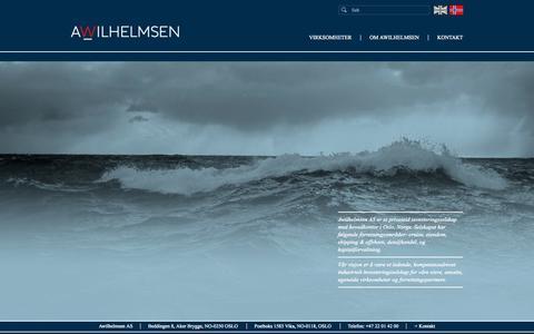 Screenshot of Home Page awilhelmsen.no - awilhelmsen.no - captured Oct. 4, 2014