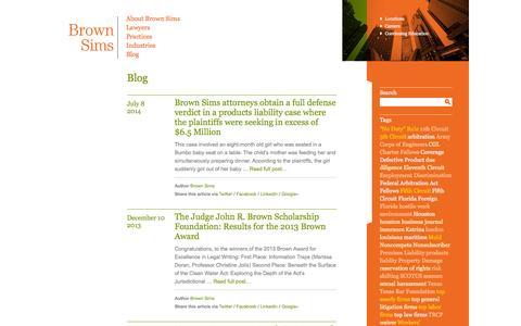 Screenshot of Blog brownsims.com - Blog - Brown Sims - captured Oct. 5, 2014