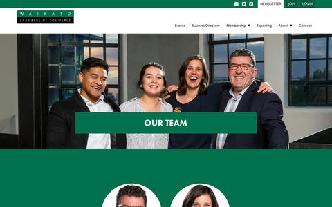 Screenshot of Team Page waikatochamber.co.nz - Our Team  |  Waikato Chamber of Commerce - Waikato Chamber of Commerce - captured Nov. 10, 2017