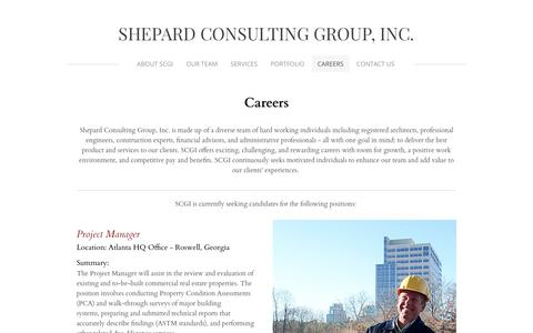 Screenshot of Jobs Page shepconsult.com - Careers - SHEPARD CONSULTING GROUP, INC. - captured Oct. 2, 2018