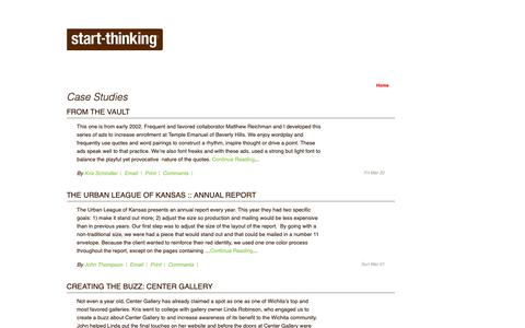 Screenshot of Case Studies Page start-thinking.com - Case Studies | Start-Thinking - captured Oct. 18, 2018