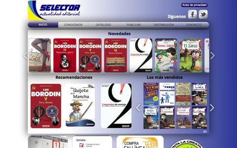 Screenshot of Home Page selector.com.mx - Selector Editorial - captured Oct. 6, 2014