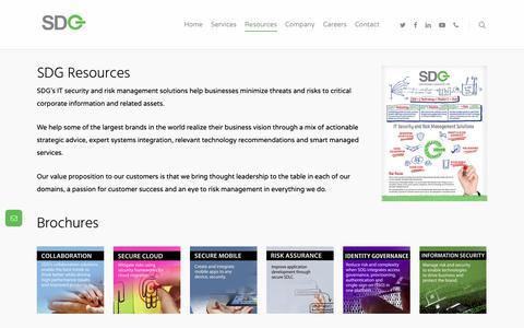 Screenshot of Case Studies Page sdgc.com - Resources - SDGC - captured May 11, 2019