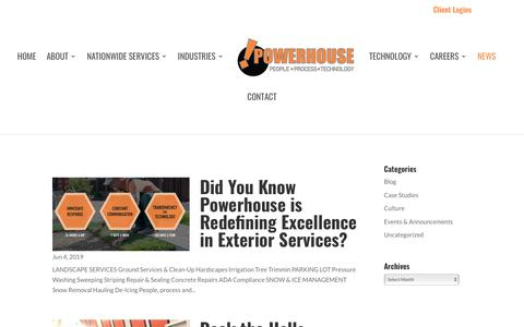 Screenshot of Press Page powerhousenow.com - News - Powerhouse - captured Aug. 7, 2019