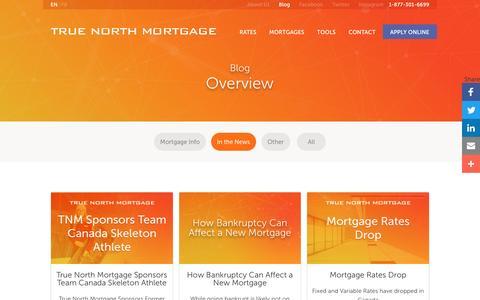 Screenshot of Press Page truenorthmortgage.ca - True North Mortgage Blog | True North Mortgage - captured May 12, 2017