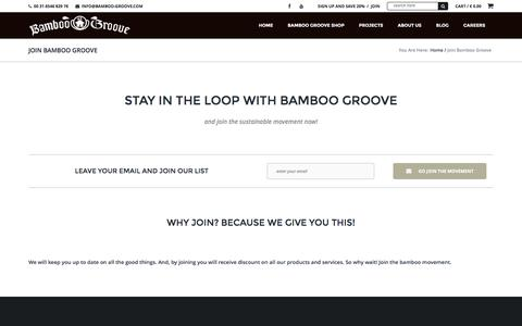 Screenshot of Signup Page bamboo-groove.com - Join Bamboo Groove | Bamboo-groove.com - captured Dec. 29, 2015