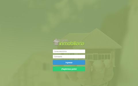 Screenshot of Login Page lagraninmobiliaria.com - Mi cuenta - Ingresá a La gran Inmobiliaria y publicá todas tus propiedades - lagraninmobiliaria.com - captured May 13, 2017