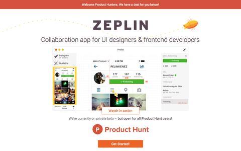 Screenshot of zeplin.io - Zeplin - captured Dec. 13, 2014