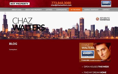 Screenshot of Blog chazwalters.com - Blog | Chaz Walters - captured Oct. 3, 2014