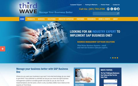 Screenshot of Home Page twbs.com - SAP Business One Solutions | Business Management Software | Microsoft Dynamics GP Solutions - captured Oct. 10, 2014