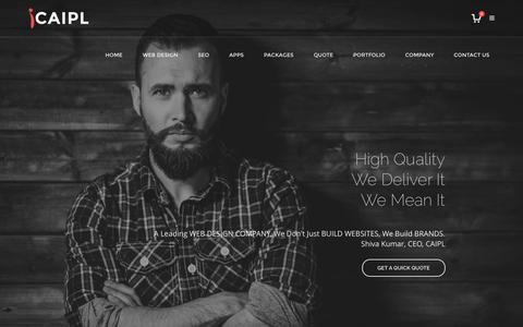 Screenshot of Home Page cainfotechindia.com - Web Design Company India | Outsource Web Design India | SEO India - captured Oct. 11, 2016