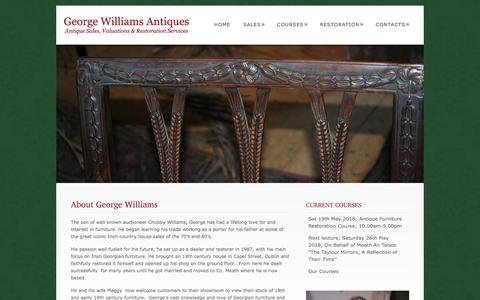Screenshot of About Page georgian-antiques.com - About George Williams  @  George Williams Antiques - captured June 30, 2018