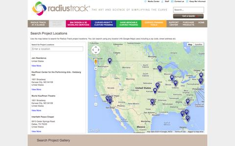 Screenshot of Locations Page radiustrack.com - Project Locator | RadiusTrack - captured Sept. 30, 2014