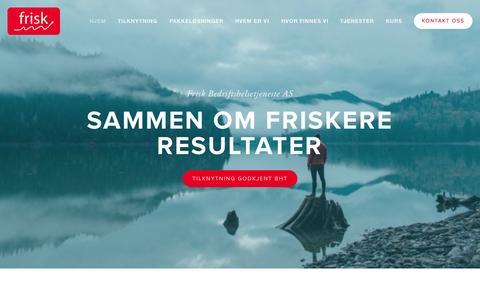 Screenshot of Home Page friskbedrift.com - Frisk Bedriftshelsetjeneste AS - godkjent bedriftshelsetjeneste - captured Sept. 11, 2015