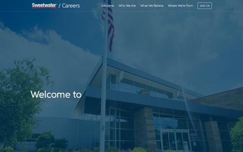 Screenshot of Jobs Page sweetwater.com - Sweetwater Careers - captured Dec. 3, 2015