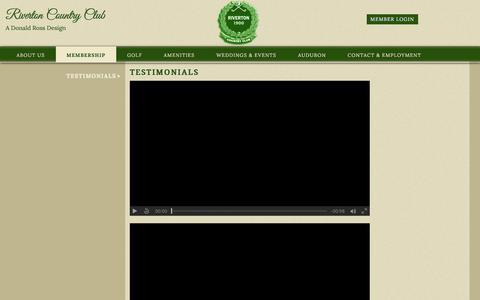 Screenshot of Testimonials Page rivertoncc.com - Testimonials: Cinnaminson, NJ: The Riverton Country Club - captured July 7, 2018