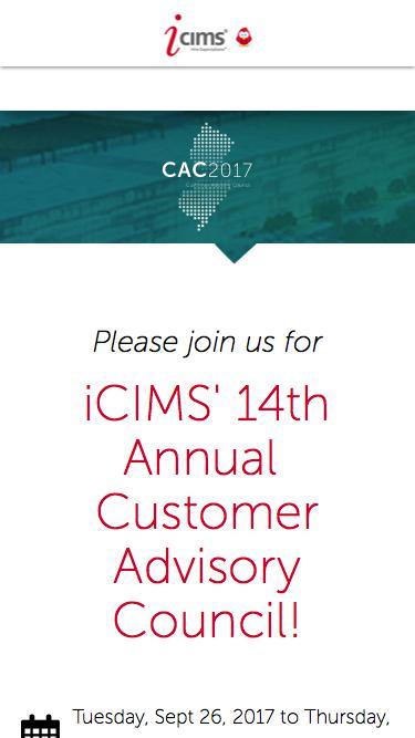 iCIMS 2017 Customer Advisory Council