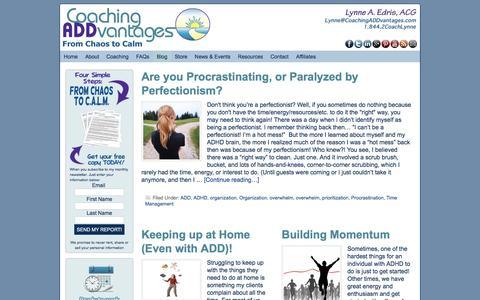 Screenshot of Blog coachingaddvantages.com - ADHD Blog, ADD Bloc, ADHD Coaching, ADD Coaching - captured May 19, 2017
