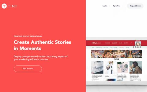 TINT: Create Authentic Stories in Moments