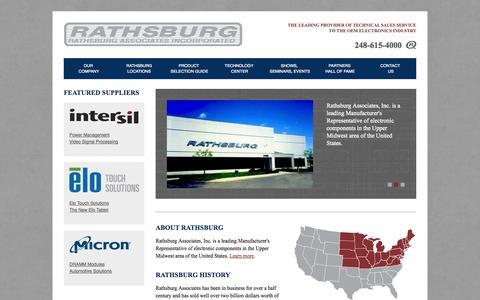 Screenshot of Home Page rathsburg.com - Rathsburg Associates Incorporated | Rathsburg Associates Incorporated - captured Oct. 7, 2014