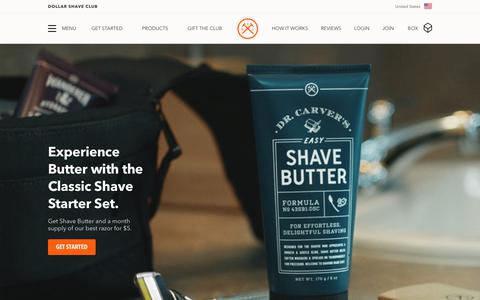 Screenshot of Home Page dollarshaveclub.com - Dollar Shave Club | Shave and Grooming Made Simple - captured Nov. 26, 2017
