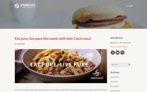 Screenshot of Blog spoonrocket.com - SpoonRocket Blog - SpoonRocket Blog - captured July 3, 2015
