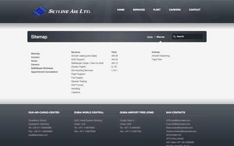 Screenshot of Site Map Page skylineair.com - Sitemap «  Skyline Air Ltd - captured Sept. 30, 2014