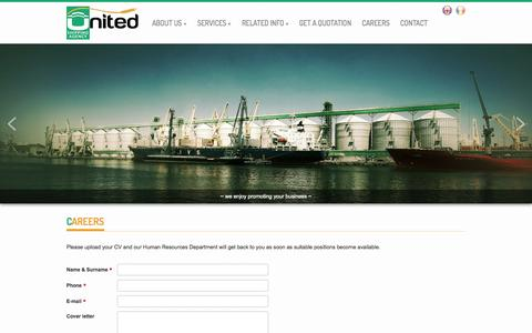 Screenshot of Jobs Page united.ro - Careers | United Shipping Agency - captured Oct. 6, 2014